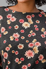 French Terry Daisy Floral Short PJ Pajama Set - 6