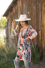Mix Media Floral Tunic - 3