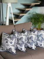 """Set of 4 17"""" Forest Sky Jacquard Throw Pillow Cover in Blue - 1"""