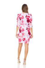 Floral Print Faux Wrap Dress - 2
