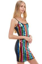 Multi Color Sequin Cami Dress - 4