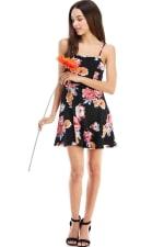 Floral Tie Back A-line Dress - 1