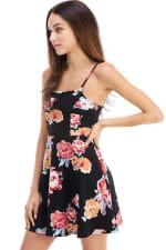 Floral Tie Back A-line Dress - 6