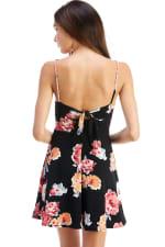 Floral Tie Back A-line Dress - 2