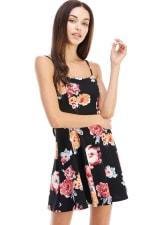 Floral Tie Back A-line Dress - 11