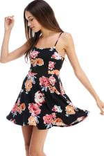 Floral Tie Back A-line Dress - 8