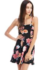 Floral Tie Back A-line Dress - 12