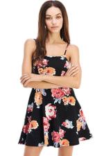 Floral Tie Back A-line Dress - 10
