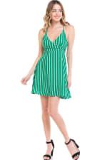 Striped A-Line Cami Dress - 4