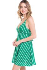 Striped A-Line Cami Dress - 3