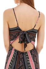 Boho Printed Tie Back Jumpsuit - 4