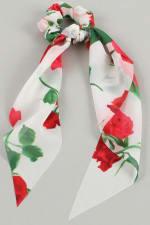 Floral Print Ponytail Scrunchies - 4