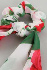 Floral Print Ponytail Scrunchies - 3