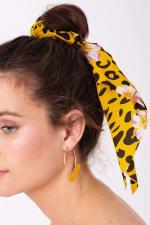 Floral & Animal Mix Print Ponytail Scrunchy - 2