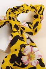 Floral & Animal Mix Print Ponytail Scrunchy - 3
