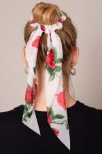 Floral Print Ponytail Scrunchies - 2