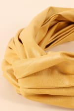Faux Leather Solid Twisted Headband - 2