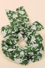 Floral Print Twisted Headband - 1