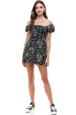 Daisy Floral Smocked Top Romper - 7