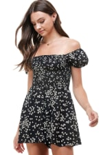 Daisy Floral Smocked Top Romper - 8