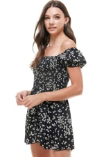 Daisy Floral Smocked Top Romper - 3