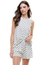 Loungewear Set Polka Dots Pajama - 8