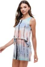 Loungewear Set For Women's Tie Dye Pajama - 5
