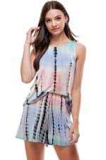 Loungewear Set For Women's Tie Dye Pajama - 1