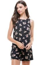 Loungewear Set Floral Print Pajama - 1