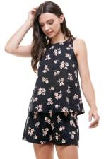 Loungewear Set Floral Print Pajama - 4