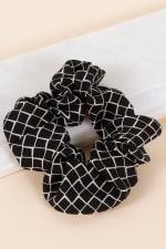Diamond Pattern Hair Scrunchy - 1