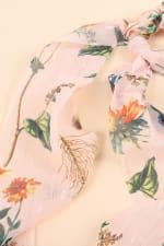 Floral Print Ponytail Scarf Scrunchy - 2
