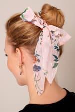 Floral Print Ponytail Scarf Scrunchy - 4