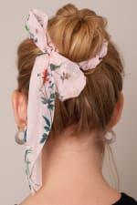 Floral Print Ponytail Scarf Scrunchy - 3