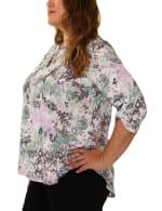 Slubbed Roll Tab sleeve blouse - Plus - 3