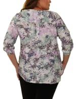 Slubbed Roll Tab sleeve blouse - Plus - 2