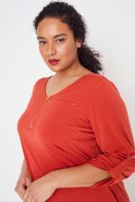 Roz & Ali Zip Front Knit Top - Plus - 38