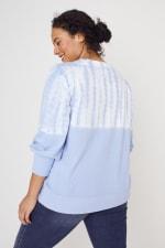 Westport Tie Dye Side Knot Sweater - Plus - 10