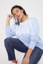 Westport Tie Dye Side Knot Sweater - Plus - 7
