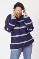 Westport Cozy Stripe Pullover Sweater - Plus - 5