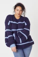 Westport Cozy Stripe Pullover Sweater - Plus - 4