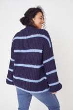 Westport Cozy Stripe Pullover Sweater - Plus - 2