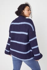 Westport Cozy Stripe Pullover Sweater - Plus - 9