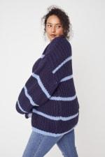Westport Cozy Stripe Pullover Sweater - Plus - 7