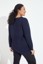 Roz & Ali Pointelle Hi/Lo Tunic Sweater - Plus - 4