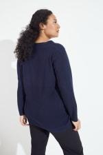 Roz & Ali Pointelle Hi/Lo Tunic Sweater - Plus - 2