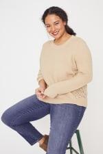 Westport Novelty Back Pullover Sweater - Plus - 5