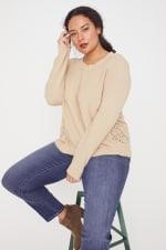 Westport Novelty Back Pullover Sweater - Plus - 6