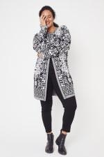 Scroll Coatigan Sweater - Plus - 4