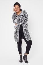 Scroll Coatigan Sweater - Plus - 3